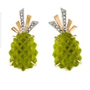 Alexis Bittar handcarved lucite  clip earrings